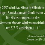 Was bedeutet der Klimawandel für Köln